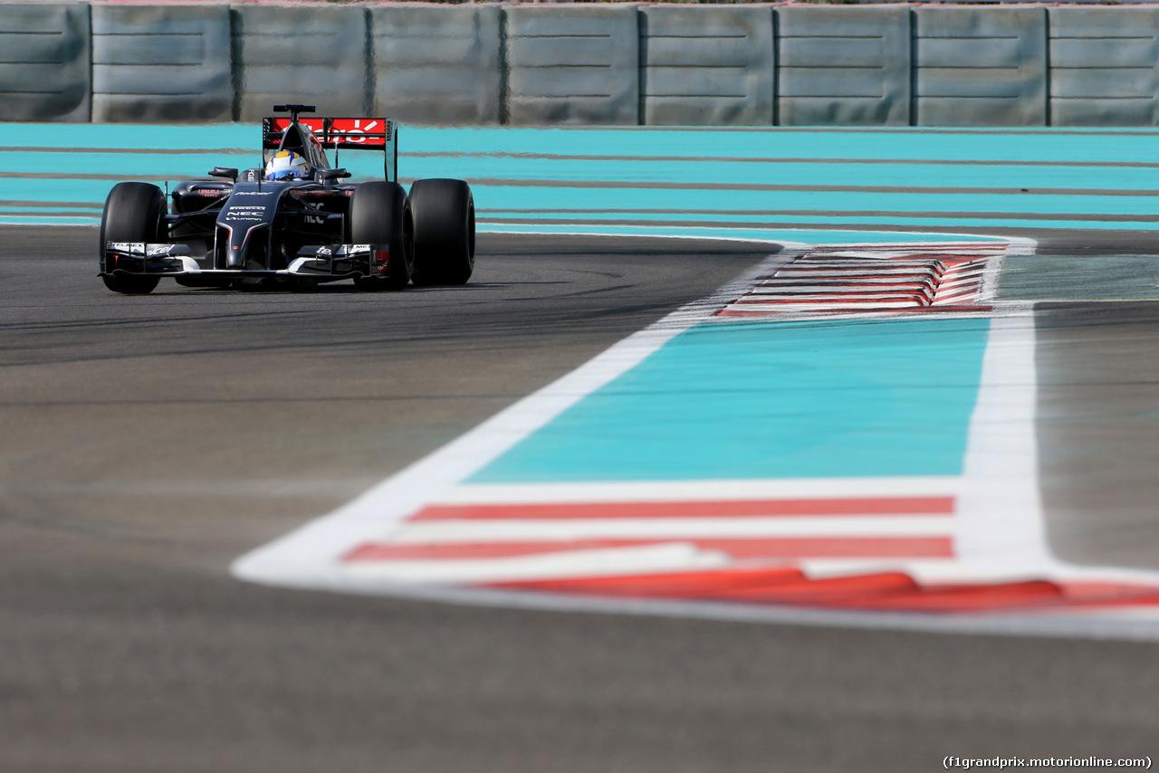 TEST F1 ABU DHABI 26 NOVEMBRE, Marcus Ericsson (SWE), Sauber F1 Team  26.11.2014.