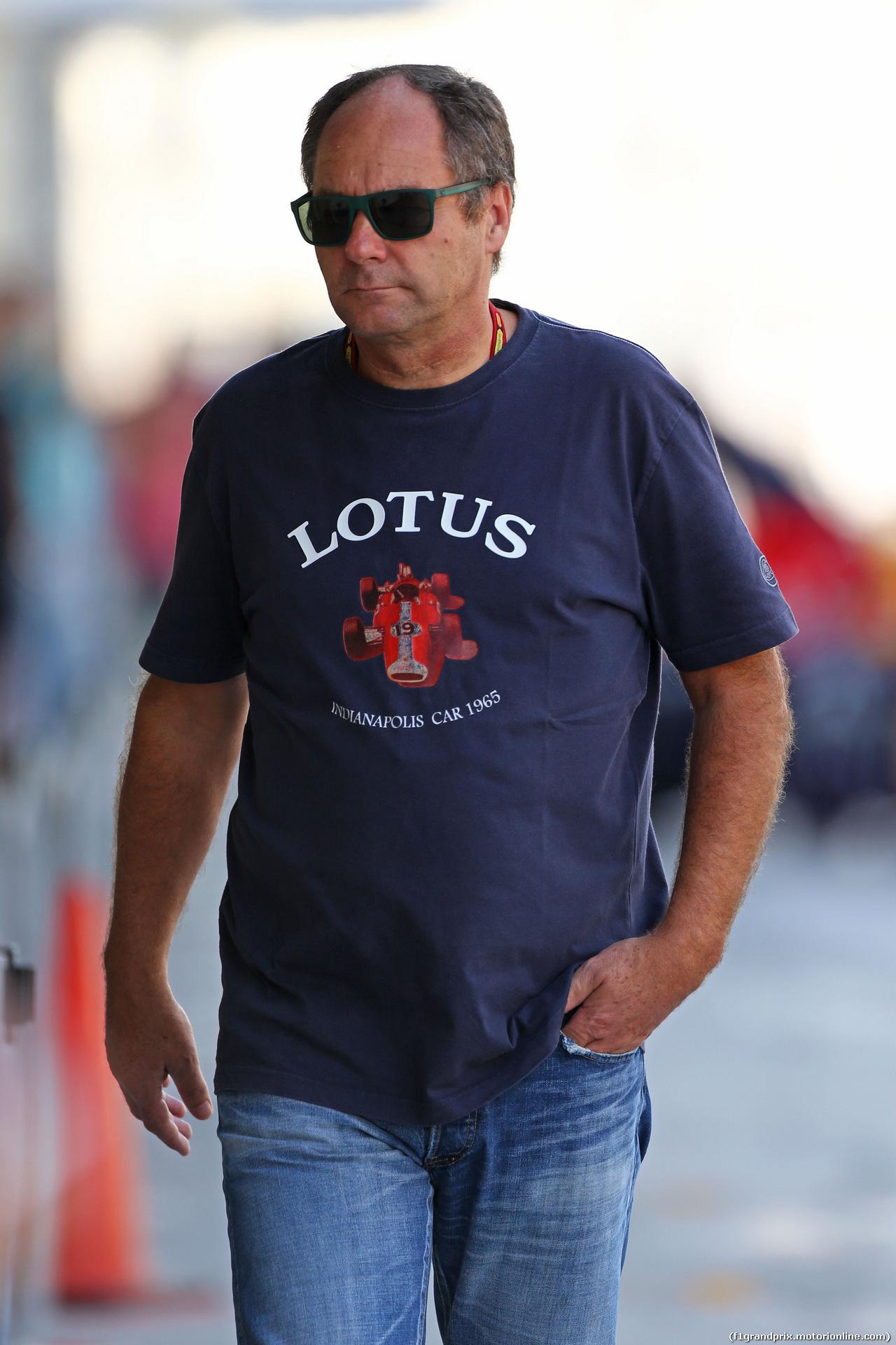 TEST F1 ABU DHABI 26 NOVEMBRE, Gerhard Berger (AUT). 26.11.2014.