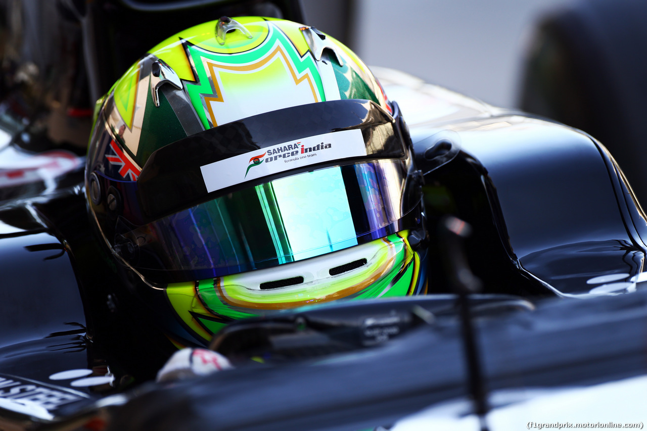 TEST F1 ABU DHABI 26 NOVEMBRE, Spike Goddard (AUS) Sahara Force India F1 VJM07 Test Driver. 26.11.2014.