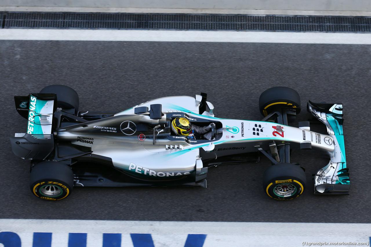 TEST F1 ABU DHABI 26 NOVEMBRE, Pascal Wehrlein (GER) Mercedes AMG F1 W05 Reserve Driver. 26.11.2014.