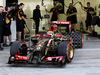 TEST F1 BAHRAIN 21 FEBBRAIO, Pastor Maldonado (VEN) Lotus F1 E21 running sensor equipment. 21.02.2014. Formula One Testing, Bahrain Test One, Day Three, Sakhir, Bahrain.