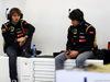 TEST F1 BAHRAIN 21 FEBBRAIO, (L to R): Charles Pic (FRA) Lotus F1 Team Third Driver with Nicolas Prost (FRA) Lotus F1 Test Driver. 21.02.2014. Formula One Testing, Bahrain Test One, Day Three, Sakhir, Bahrain.