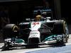 TEST F1 BAHRAIN 21 FEBBRAIO, Lewis Hamilton (GBR) Mercedes AMG F1 W05 leaves the pits. 21.02.2014. Formula One Testing, Bahrain Test One, Day Three, Sakhir, Bahrain.