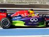 TEST F1 BAHRAIN 21 FEBBRAIO, Sebastian Vettel (GER) Red Bull Racing RB10 running flow-vis paint on the sidepod. 21.02.2014. Formula One Testing, Bahrain Test One, Day Three, Sakhir, Bahrain.