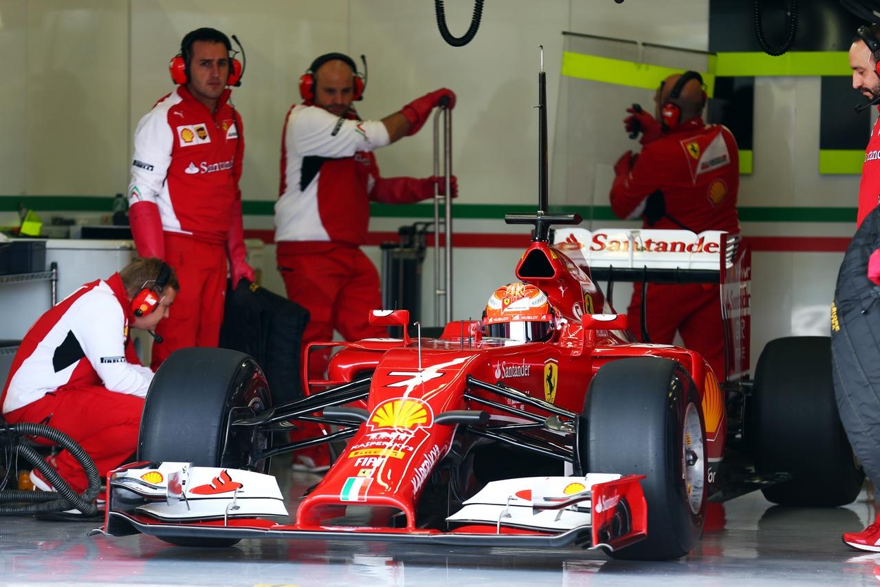 Raikkonen e la Ferrari F14 T