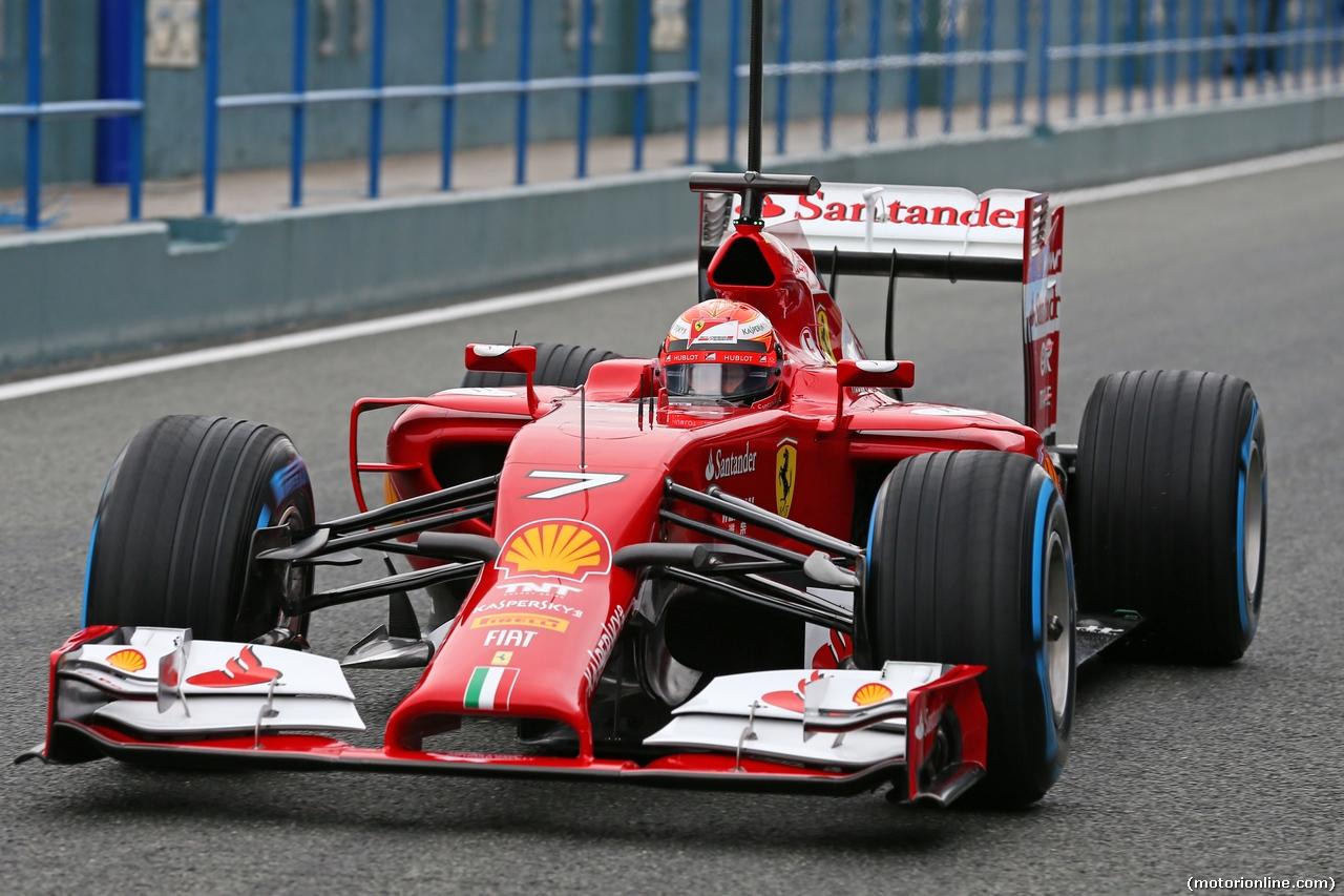 Kimi Raikkonen test Jerez seconda giornata