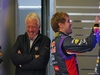 TEST F1 JEREZ 29 GENNAIO, Sebastian Vettel (GER) Red Bull Racing with Charlie Whiting (GBR) FIA Delegate. 29.01.2014. Formula One Testing, Day Two, Jerez, Spain.