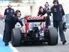 TEST F1 JEREZ 30 GENNAIO, The Scuderia Toro Rosso STR9 of Jean-Eric Vergne (FRA) Scuderia Toro Rosso is pushed down the pit lane. 30.01.2014. Formula One Testing, Day Three, Jerez, Spain.