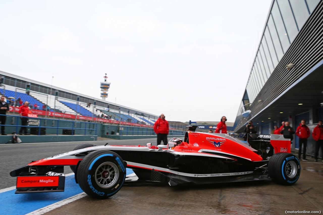 TEST F1 JEREZ 31 GENNAIO, Jules Bianchi (FRA) Marussia F1 Team MR03. 31.01.2014. Formula One Testing, Day Four, Jerez, Spain.