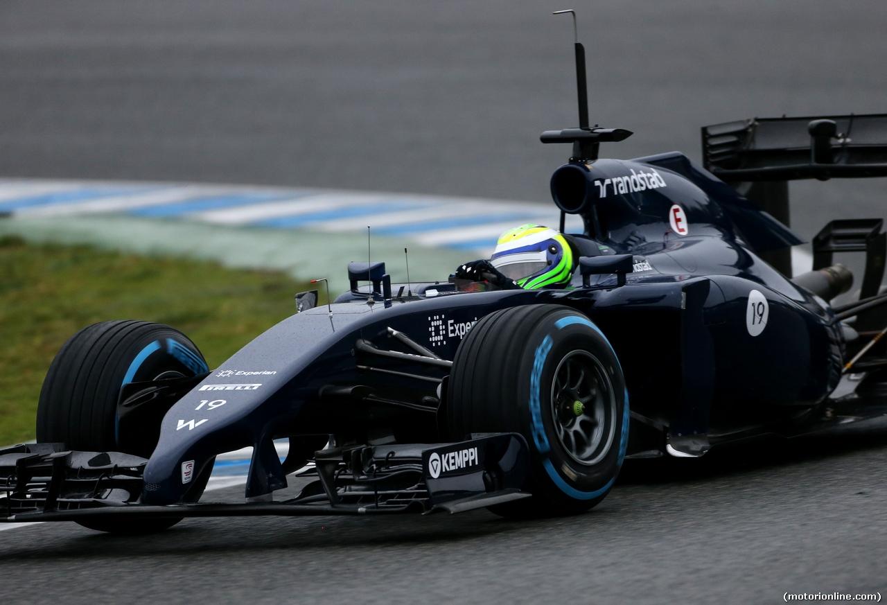TEST F1 JEREZ 31 GENNAIO, Felipe Massa (BRA), Williams F1 Team  31.01.2014. Formula One Testing, Day Four, Jerez, Spain.