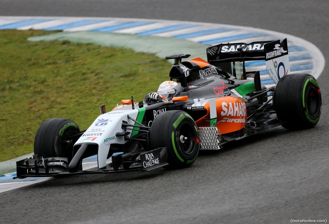TEST F1 JEREZ 31 GENNAIO, Daniel Juncadella (ESP) Sahara Force India F1 Team Test e Reserve Driver  31.01.2014. Formula One Testing, Day Four, Jerez, Spain.