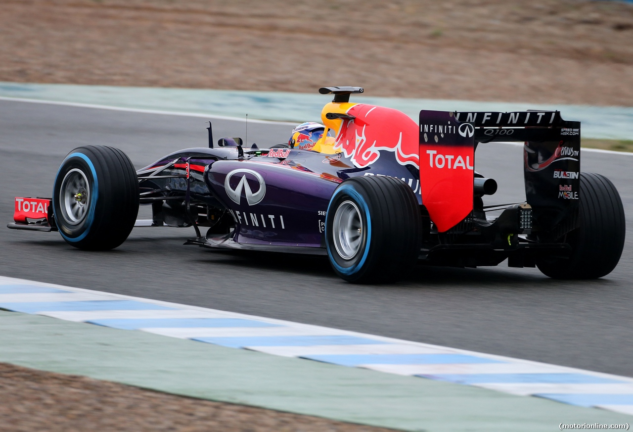 TEST F1 JEREZ 31 GENNAIO, Daniel Ricciardo (AUS), Red Bull Racing  31.01.2014. Formula One Testing, Day Four, Jerez, Spain.
