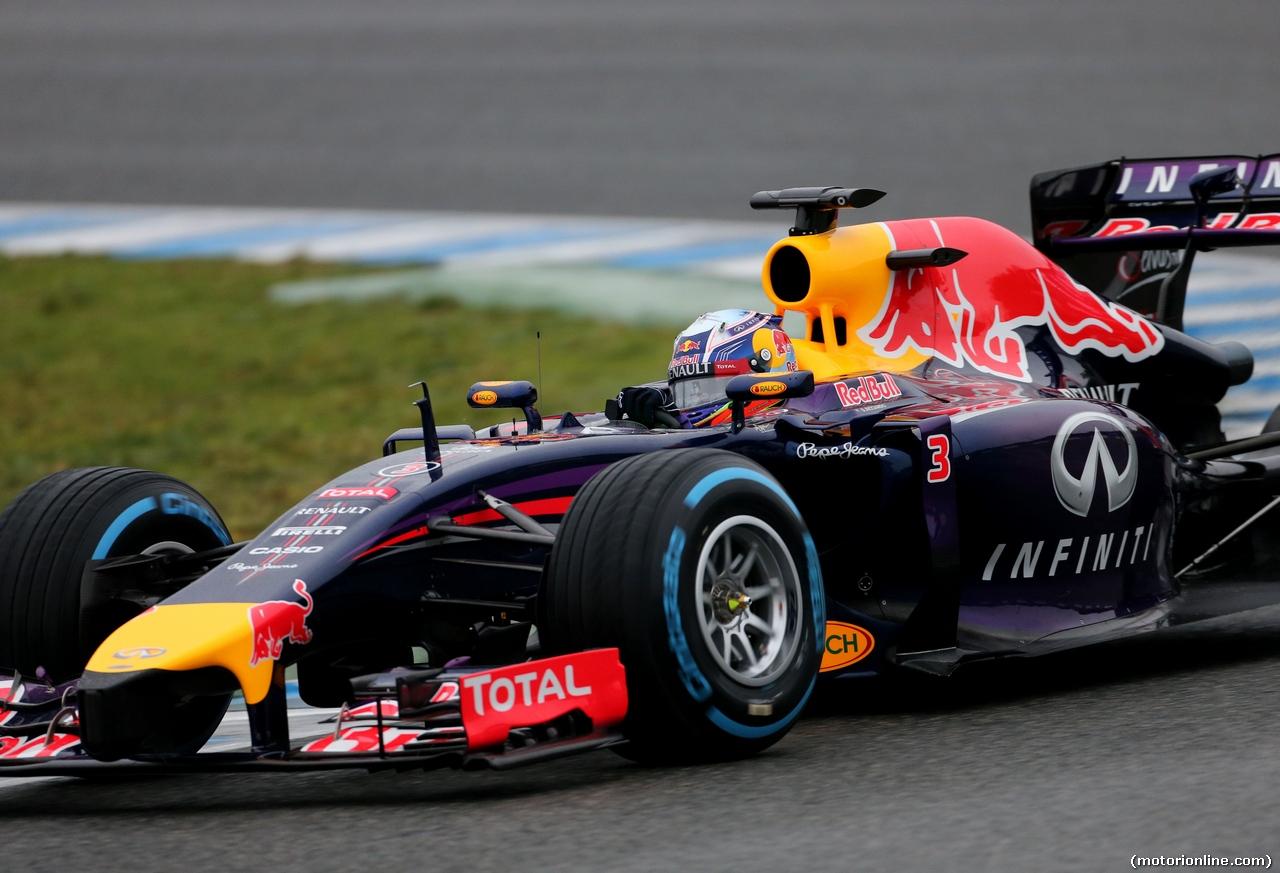 TEST F1 JEREZ 31 GENNAIO, Daniel Ricciardo (AUS), Red Bull Racing  31.01.2014. Formula One Testing, Day Four, Jerez, Spain.
