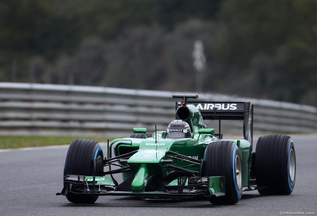 TEST F1 JEREZ 31 GENNAIO, Kamui Kobayashi (JPN), Caterham F1 Team  31.01.2014. Formula One Testing, Day Four, Jerez, Spain.