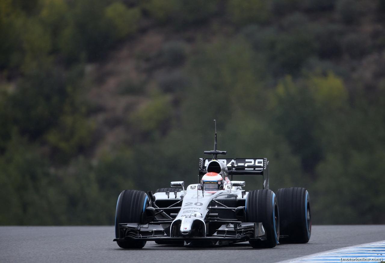 TEST F1 JEREZ 31 GENNAIO, Kevin Magnussen (DEN), McLaren F1  31.01.2014. Formula One Testing, Day Four, Jerez, Spain.