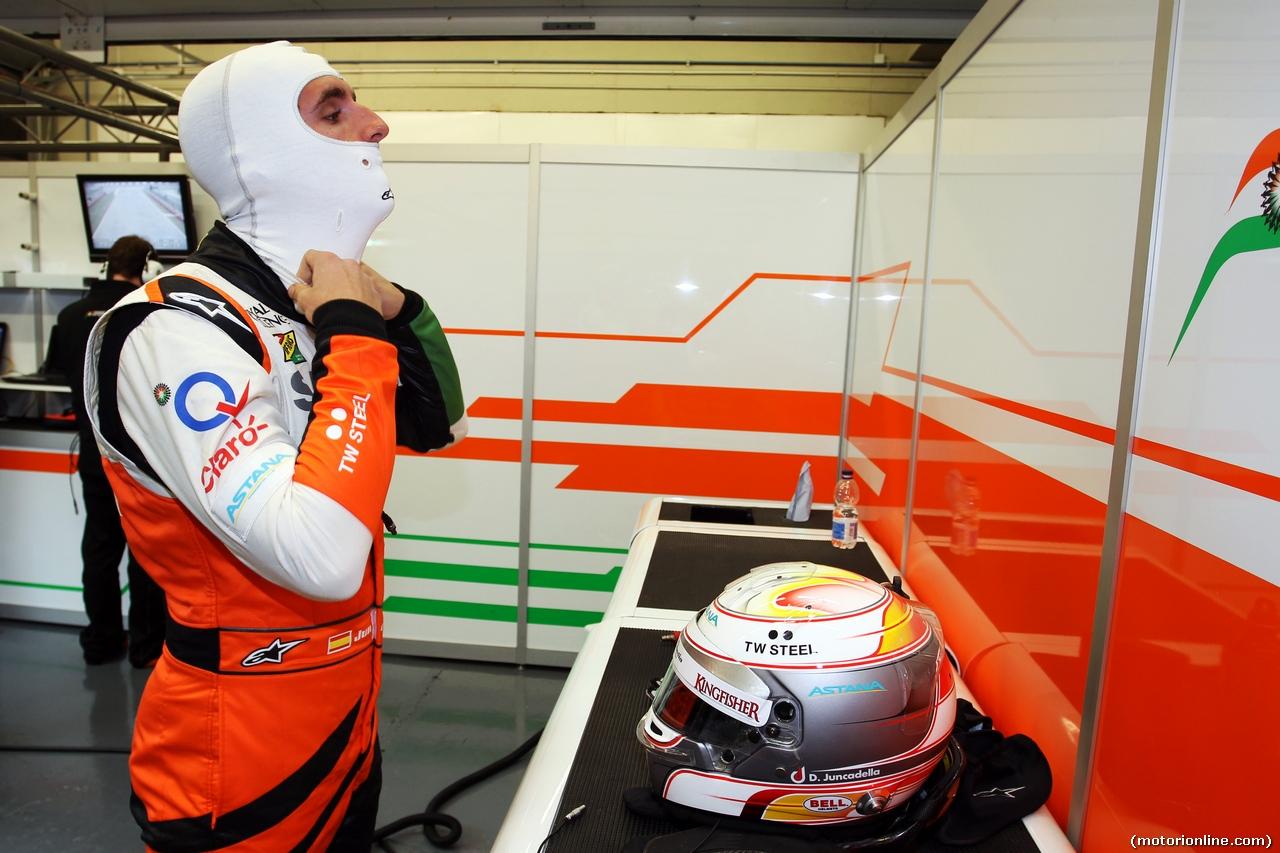 TEST F1 JEREZ 31 GENNAIO, Daniel Juncadella (ESP) Sahara Force India F1 Team Test e Reserve Driver. 31.01.2014. Formula One Testing, Day Four, Jerez, Spain.