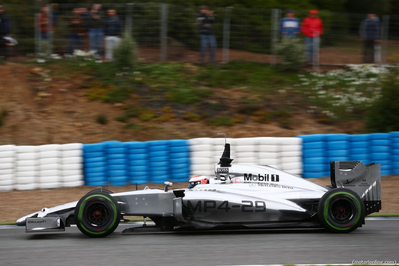 TEST F1 JEREZ 31 GENNAIO, Jenson Button (GBR) McLaren MP4-29. 31.01.2014. Formula One Testing, Day Four, Jerez, Spain.