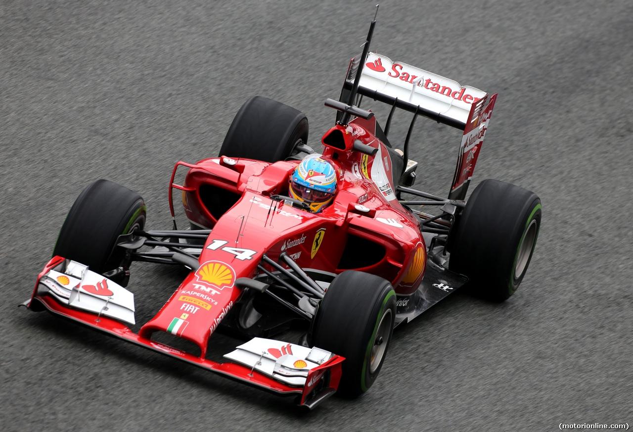 TEST F1 JEREZ 31 GENNAIO, Fernando Alonso (ESP), Ferrari  31.01.2014. Formula One Testing, Day Four, Jerez, Spain.
