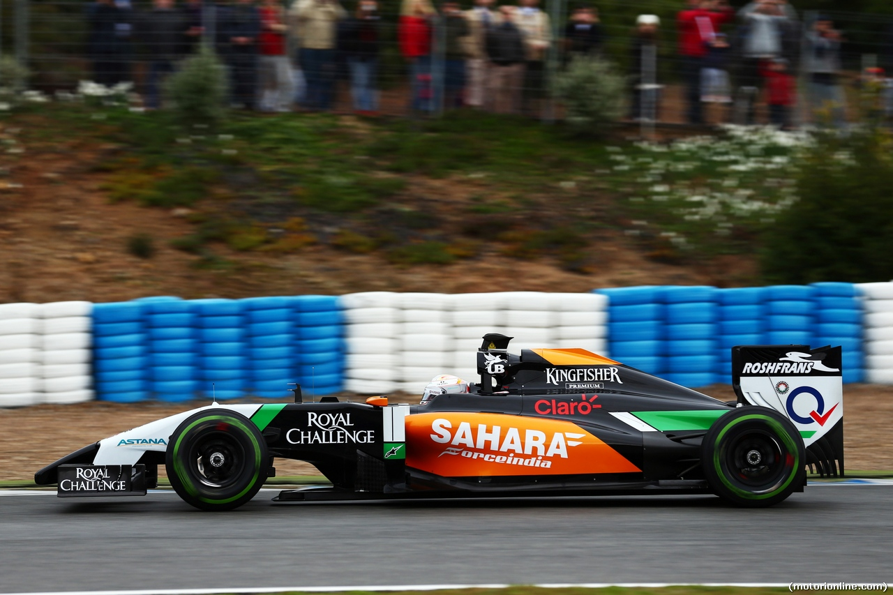 TEST F1 JEREZ 31 GENNAIO, Daniel Juncadella (ESP) Sahara Force India F1 VJM07 Test e Reserve Driver. 31.01.2014. Formula One Testing, Day Four, Jerez, Spain.