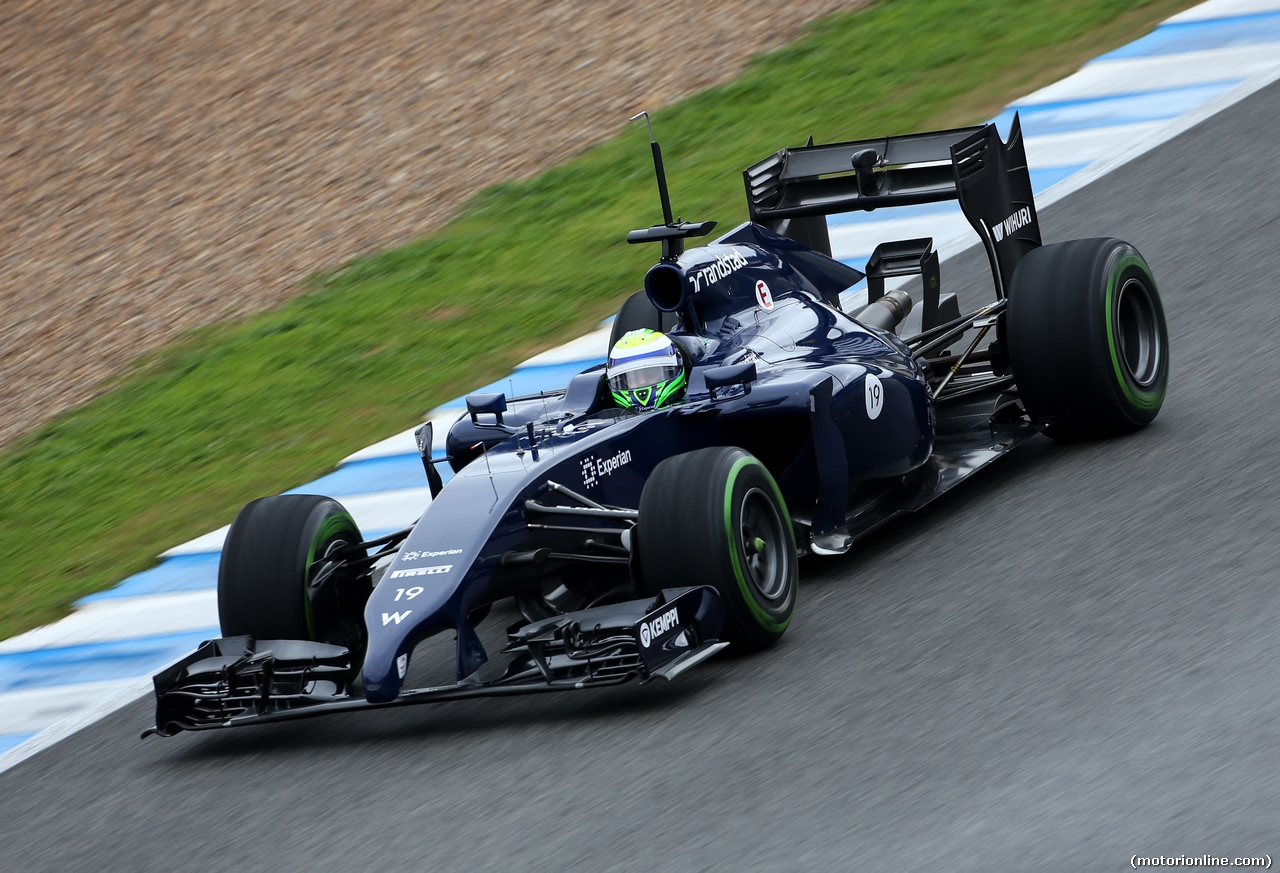 TEST F1 JEREZ 31 GENNAIO, Felipe Massa (BRA), Williams F1 Team  31.01.2014. Formula One Testing, Day Four, Jerez, Spain.