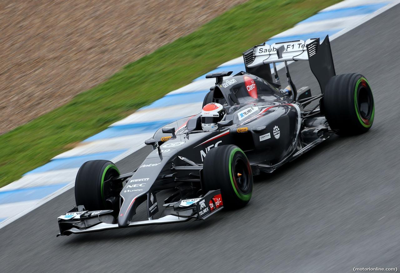 TEST F1 JEREZ 31 GENNAIO, Adrian Sutil (GER), Sauber F1 Team  31.01.2014. Formula One Testing, Day Four, Jerez, Spain.
