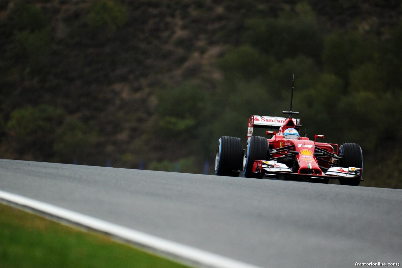 TEST F1 JEREZ 31 GENNAIO, Fernando Alonso (ESP) Ferrari F14-T. 31.01.2014. Formula One Testing, Day Four, Jerez, Spain.