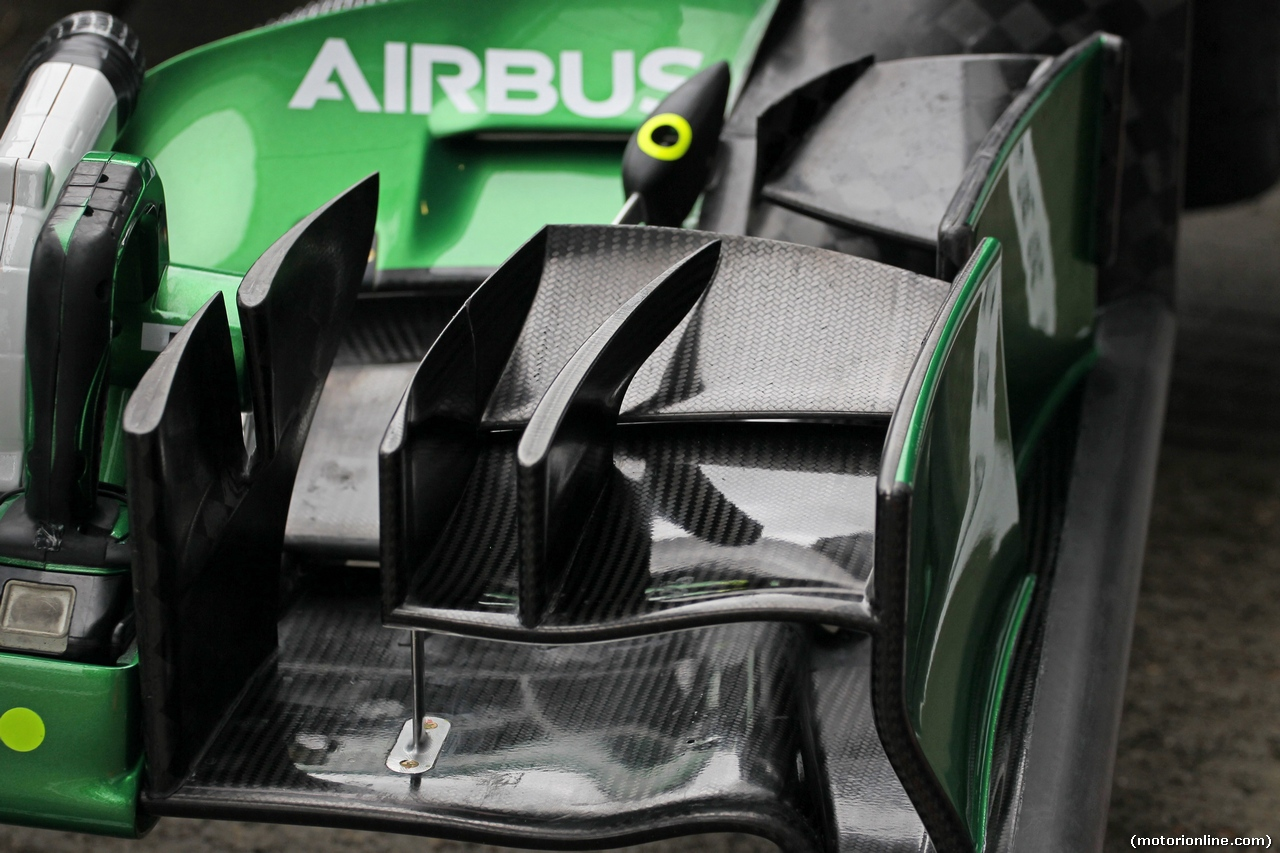 TEST F1 JEREZ 31 GENNAIO, Caterham CT05 front wing detail. 31.01.2014. Formula One Testing, Day Four, Jerez, Spain.
