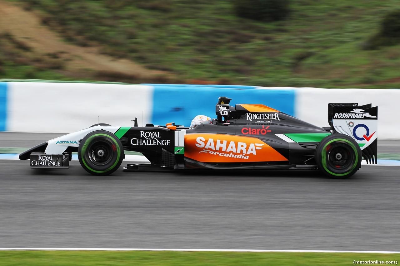 TEST F1 JEREZ 31 GENNAIO, Daniel Juncadella (ESP) Sahara Force India F1 VJM07 Test e Reserve Driver. 31.01.2014. Formula One Testing, Day Four, Jerez, Spain.