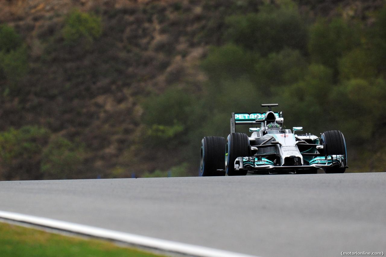 TEST F1 JEREZ 31 GENNAIO, Nico Rosberg (GER) Mercedes AMG F1 W05. 31.01.2014. Formula One Testing, Day Four, Jerez, Spain.