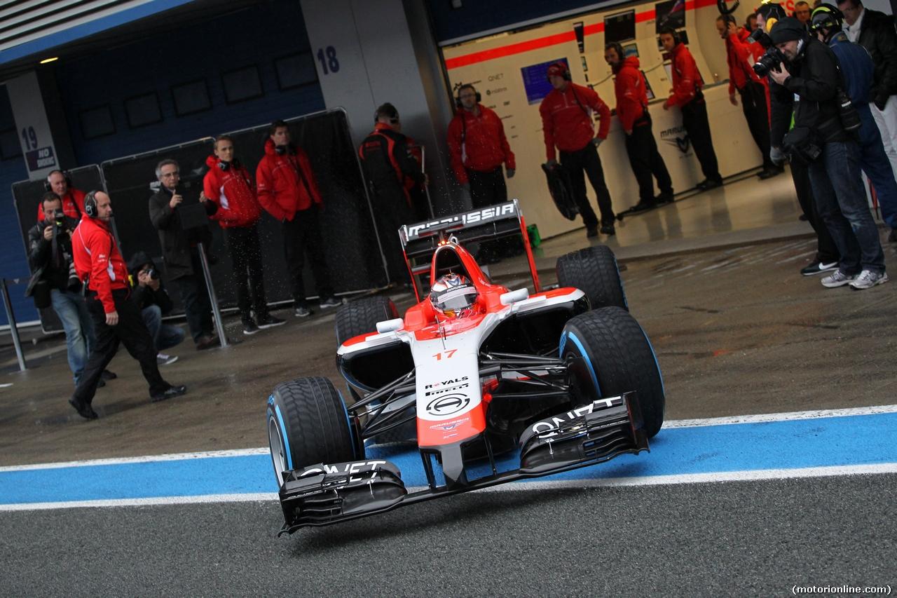 TEST F1 JEREZ 31 GENNAIO, 31.01.2014- Jules Bianchi (FRA) Marussia F1 Team MR03
