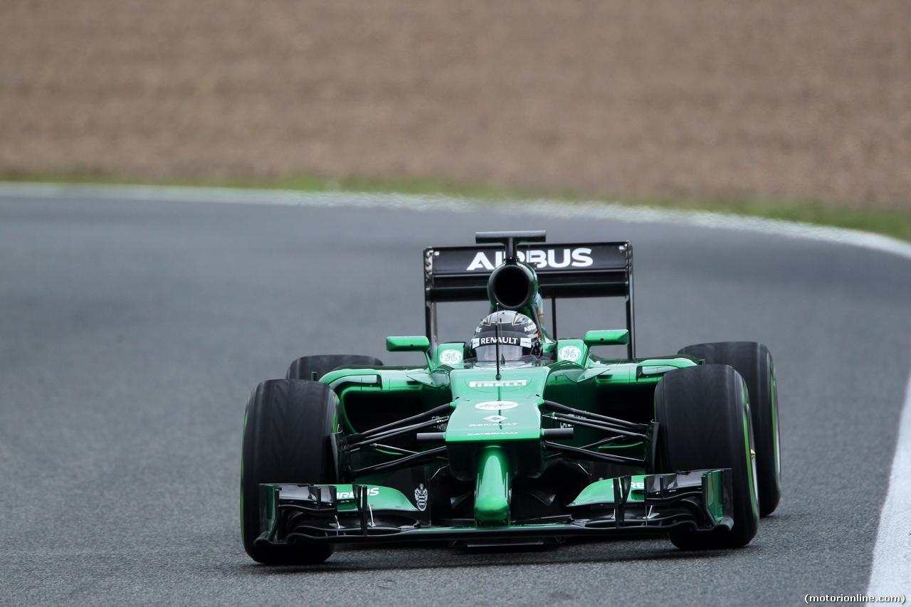 TEST F1 JEREZ 31 GENNAIO, 31.01.2014- Kamui Kobayashi (JAP) Caterham F1 Team CT-04