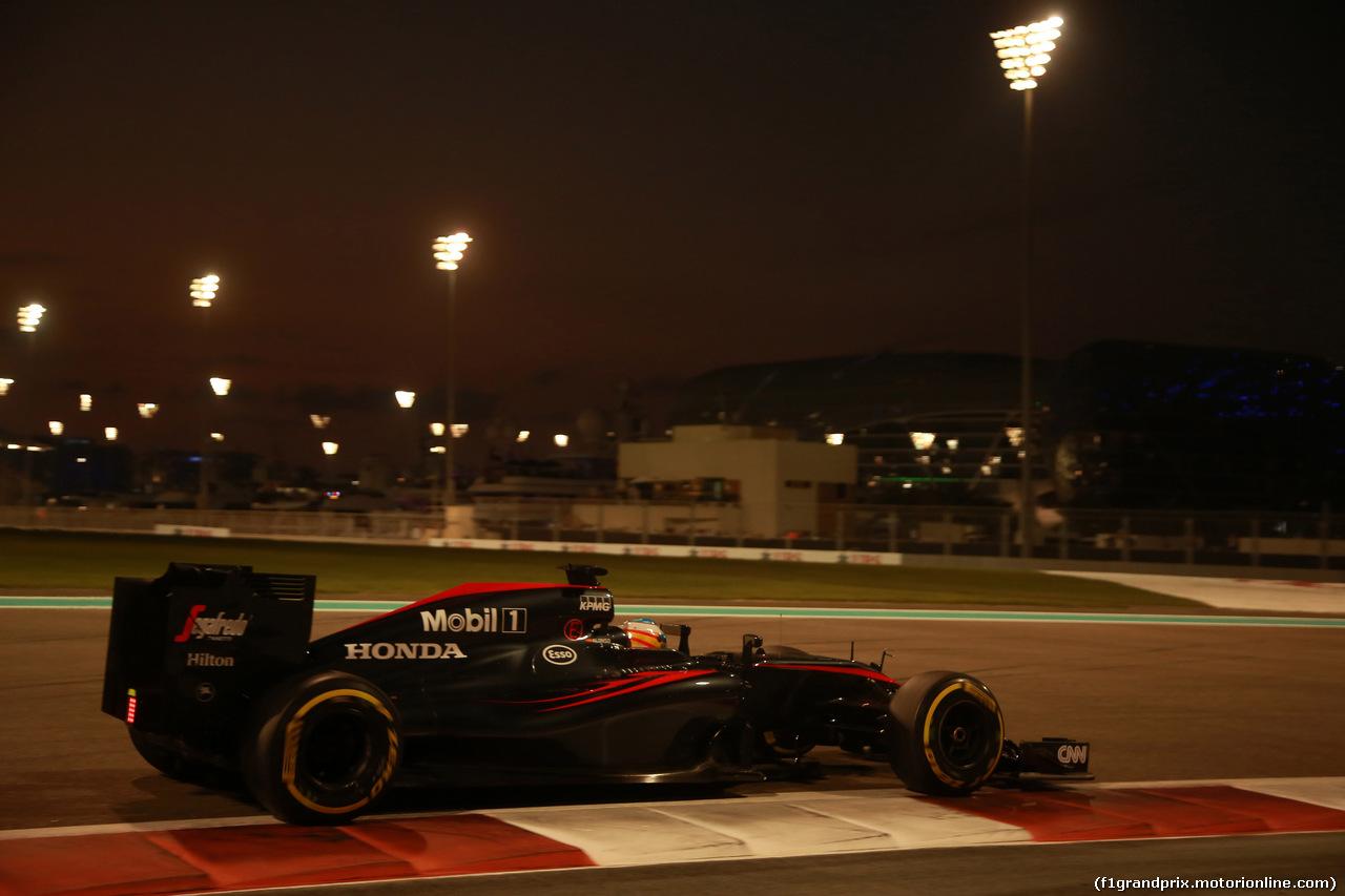 GP ABU DHABI, 29.11.2015 - Gara, Fernando Alonso (ESP) McLaren Honda MP4-30