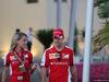 GP ABU DHABI, 28.11.2015 - Britta Roeske (AUT) Ferrari Press Officer. e Sebastian Vettel (GER) Ferrari SF15-T