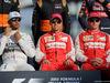 GP ABU DHABI, 29.11.2015 - Lewis Hamilton (GBR) Mercedes AMG F1 W06, Sebastian Vettel (GER) Ferrari SF15-T e Kimi Raikkonen (FIN) Ferrari SF15-T