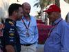 GP ABU DHABI, 29.11.2015 - Gara, (L) Christian Horner (GBR), Red Bull Racing, Sporting Director, John Booth (GBR) Manor Marussia F1 Team Team Principal e Nikki Lauda (AU), Mercedes