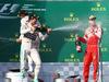 GP AUSTRALIA, 15.03.2015 - Gara, 1st position Lewis Hamilton (GBR) Mercedes AMG F1 W06, secondo Nico Rosberg (GER) Mercedes AMG F1 W06 e terzo Sebastian Vettel (GER) Ferrari SF15-T