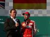GP AUSTRALIA, 15.03.2015 - Gara, Arnod Schwarzenegger (AU), Actor e Sebastian Vettel (GER) Ferrari SF15-T