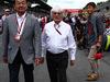 GP AUSTRIA, 21.06.2015- Takahiro Hachigo (JPN) Honda CEO with Bernie Ecclestone (GBR) on the grid