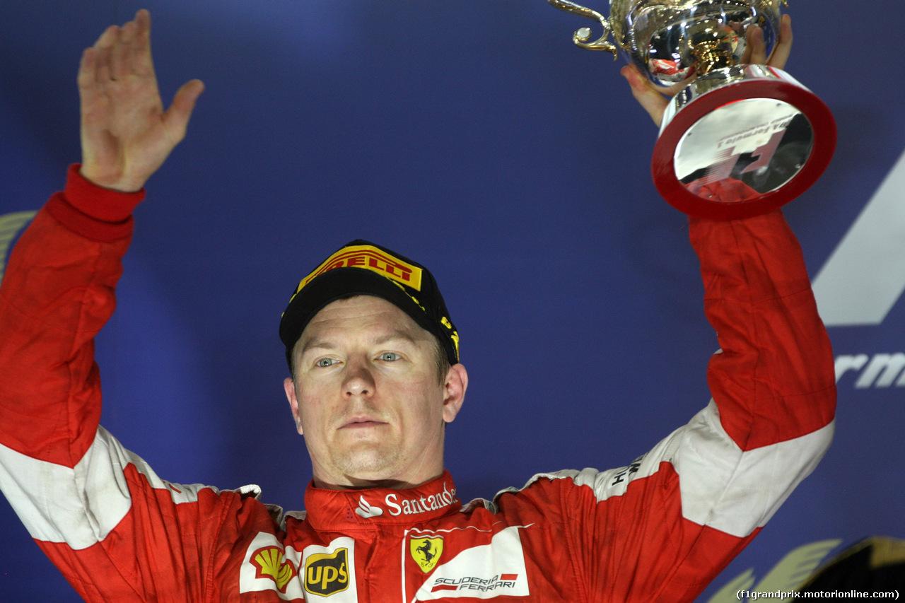 GP BAHRAIN, 19.04.2015 - Gara, secondo Kimi Raikkonen (FIN) Ferrari SF15-T