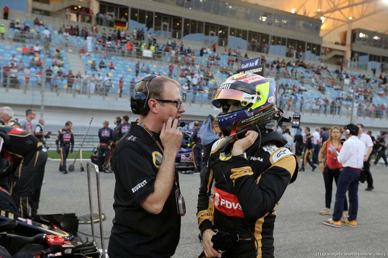 GP BAHRAIN, 19.04.2015 - Gara, Pastor Maldonado (VEN) Lotus F1 Team E23