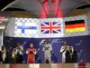 GP BAHRAIN, 19.04.2015 - Gara, 1st position Lewis Hamilton (GBR) Mercedes AMG F1 W06, secondo Kimi Raikkonen (FIN) Ferrari SF15-T e terzo Nico Rosberg (GER) Mercedes AMG F1 W06