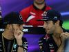 GP BAHRAIN, 16.04.2015 - Conferenza Stampa, Lewis Hamilton (GBR) Mercedes AMG F1 W06 e Daniel Ricciardo (AUS) Red Bull Racing RB11