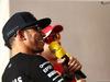 GP BAHRAIN, 16.04.2015 - Lewis Hamilton (GBR) Mercedes AMG F1 W06 e Sebastian Vettel (GER) Ferrari SF15-T