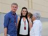 GP BAHRAIN, 18.04.2015 - David Coulthard (GBR) with Lee McKenzie (GBR) BBC Television Reporterand Bernie Ecclestone (GBR), President e CEO of FOM