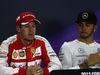 GP BAHRAIN, 18.04.2015 - Qualifiche, Conferenza Stampa, Sebastian Vettel (GER) Ferrari SF15-T e Lewis Hamilton (GBR) Mercedes AMG F1 W06