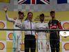 GP BELGIO, 23.08.2015 - Gara, 1st position Lewis Hamilton (GBR) Mercedes AMG F1 W06, secondo Nico Rosberg (GER) Mercedes AMG F1 W06 e terzo Romain Grosjean (FRA) Lotus F1 Team E23