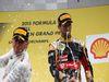 GP BELGIO, 23.08.2015 - Gara, secondo Nico Rosberg (GER) Mercedes AMG F1 W06 e terzo Romain Grosjean (FRA) Lotus F1 Team E23