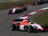 GP CINA, 12.04.2015 - Gara, Roberto Merhi (ESP) Manor Marussia F1 Team davanti a William Stevens (GBR) Manor Marussia F1 Team