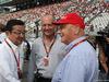 GP GIAPPONE, 27.09.2015 - Gara, Takahiro Hachigo (JPN) Honda Ron Dennis (GBR) McLaren Executive Chairman e Nikki Lauda (AU), Mercedes