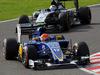 GP GIAPPONE, 27.09.2015 - Gara, Felipe Nasr (BRA) Sauber C34 davanti a Sergio Perez (MEX) Sahara Force India F1 VJM08